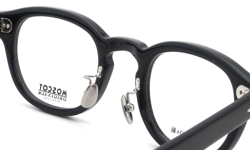 眼鏡の鼻あて・パット交換 MOSCOT LEMTOSH 46 BK 埋め込み式オールメタルパッド後