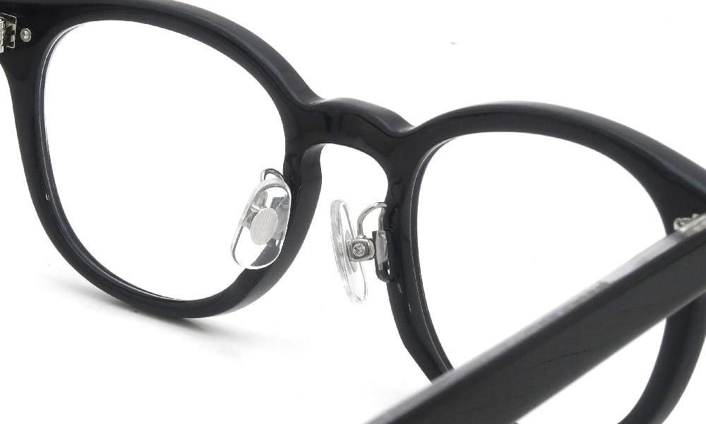 眼鏡の鼻あて・パット交換 OLIVER-PEOPLES Sheldrake Black 溶着式金属アーム 加工後