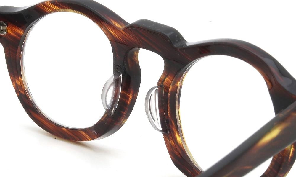 眼鏡の鼻あて・パット交換 Jacques Durand 506 013 クリアパッド中 加工後