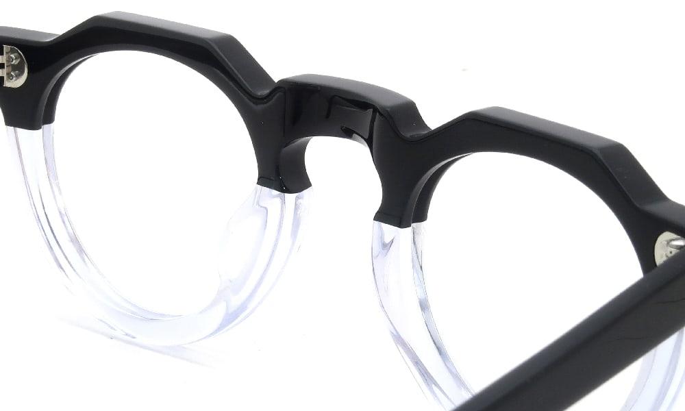 眼鏡の鼻あて・パット交換 Lesca Pica Black/Crystal クリアパッド大 加工前