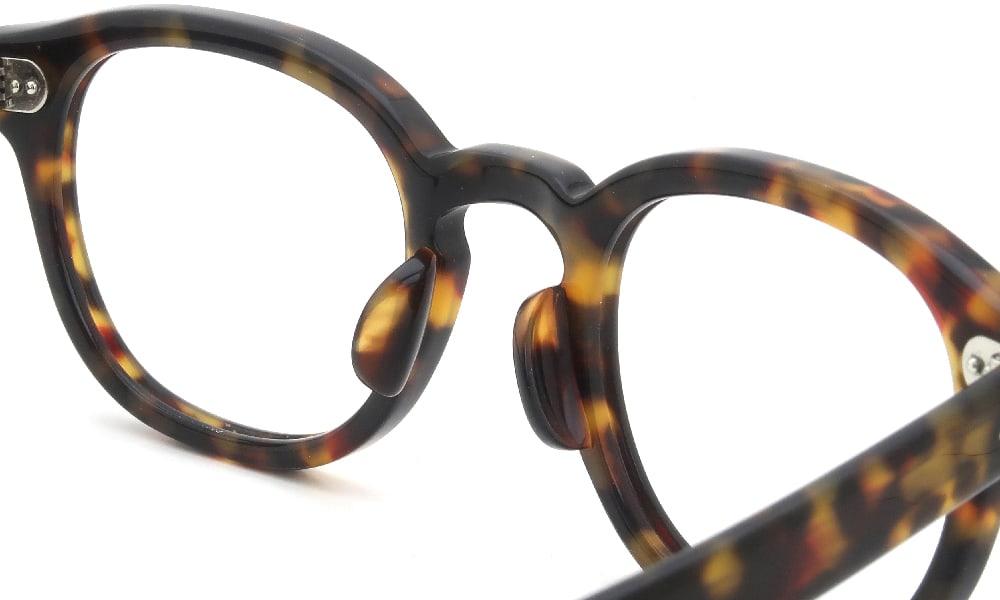 眼鏡の鼻あて・パット交換 MOSCOT LEMTOSH TORTOISE 49 デミパッド大 加工後