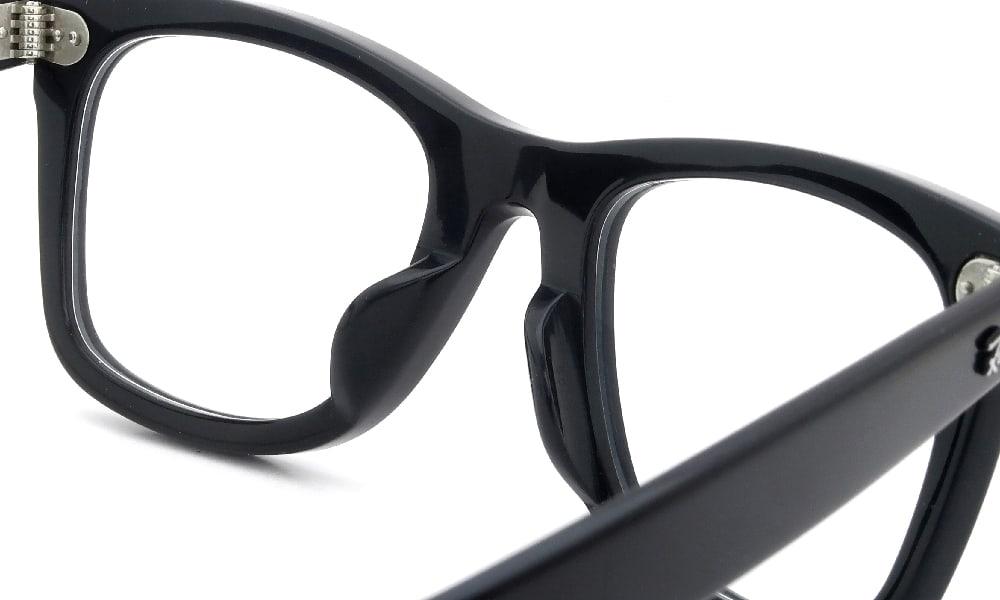 眼鏡の鼻あて・パット交換 RayBan WAYFARER RB-5121F BLACK 埋め込み式チタンパッド 加工前