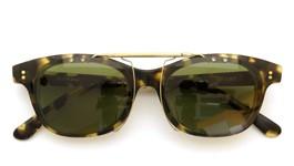 白山眼鏡×BEAMSクリップオンサングラス1975 TORTOISE ヴィンテージグリーンレンズAG 装着例 閉じた状態