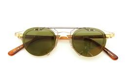 金子眼鏡 跳ね上げ式クリップオンサングラス KC18 BKCL ダークグレー装着例_close
