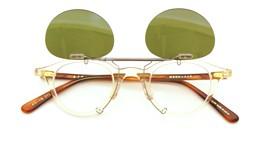 金子眼鏡 クリップオンサングラス KC18 BKCL ダークグレー装着例_open