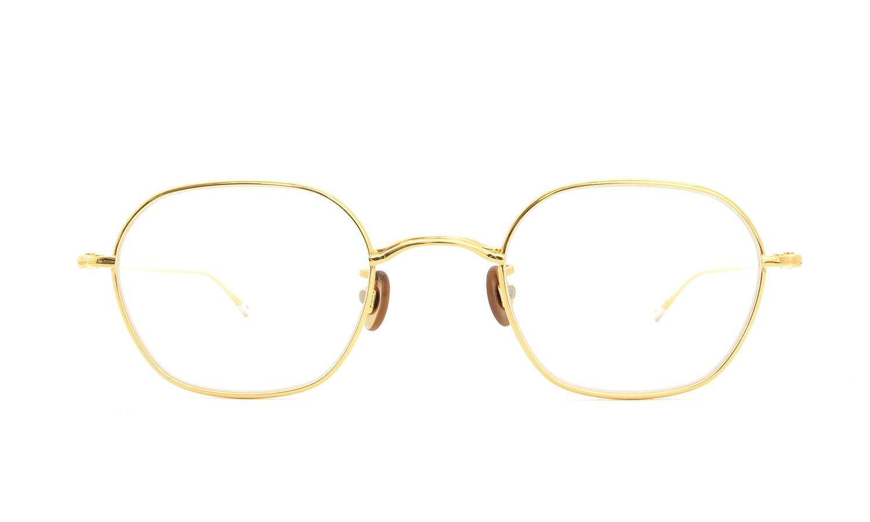 10 eyevan NO.2 3S-CL LunaGold  正面詳細