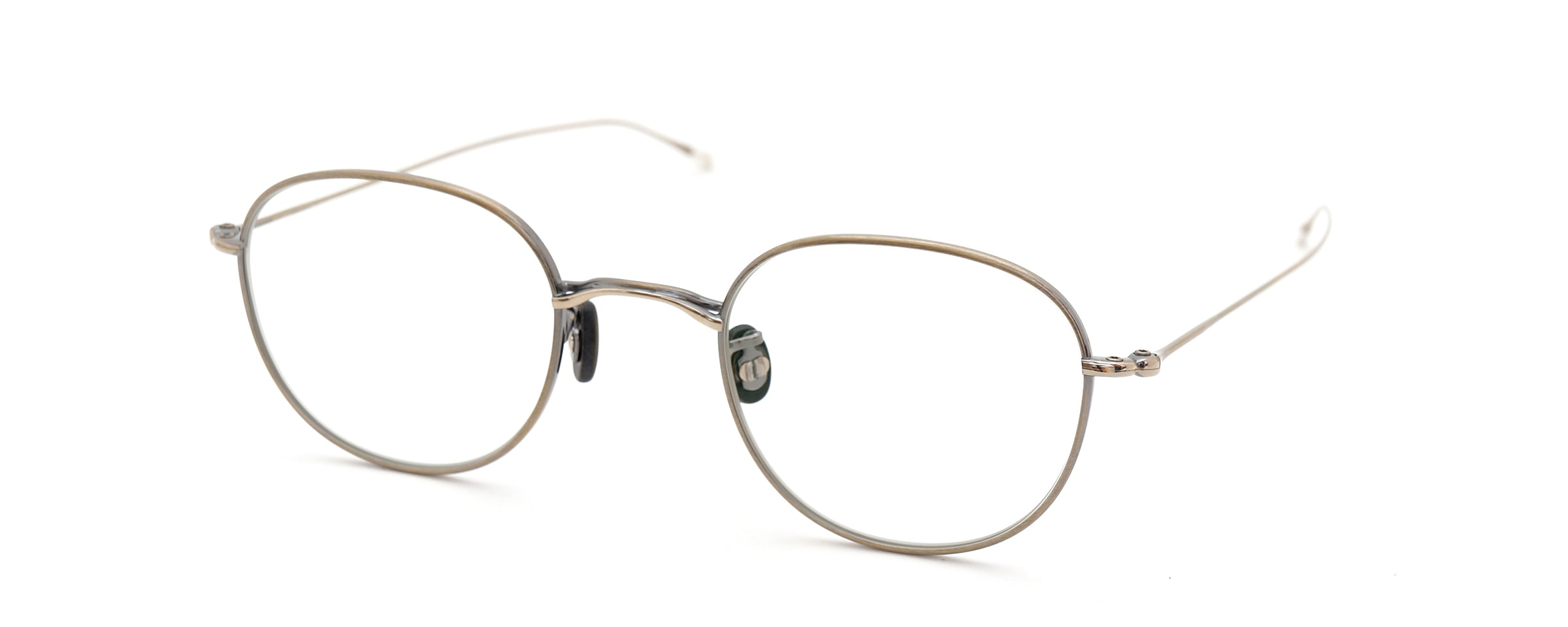10 eyevan NO.1 4S-CL OldGold全体像