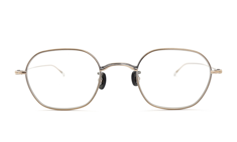 10 eyevan NO.2 4S-CL OldGold  正面詳細
