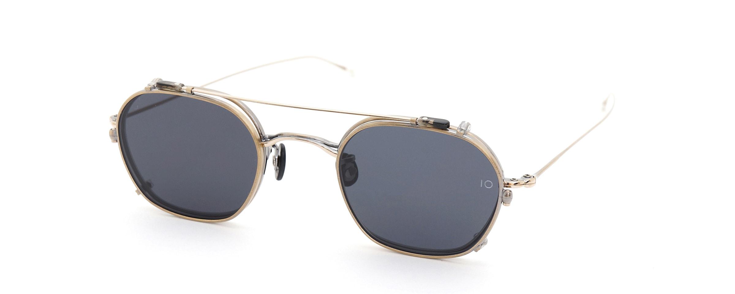 10 eyevan NO.2 +SLIDE CLIP 4S-CL OldGold全体像