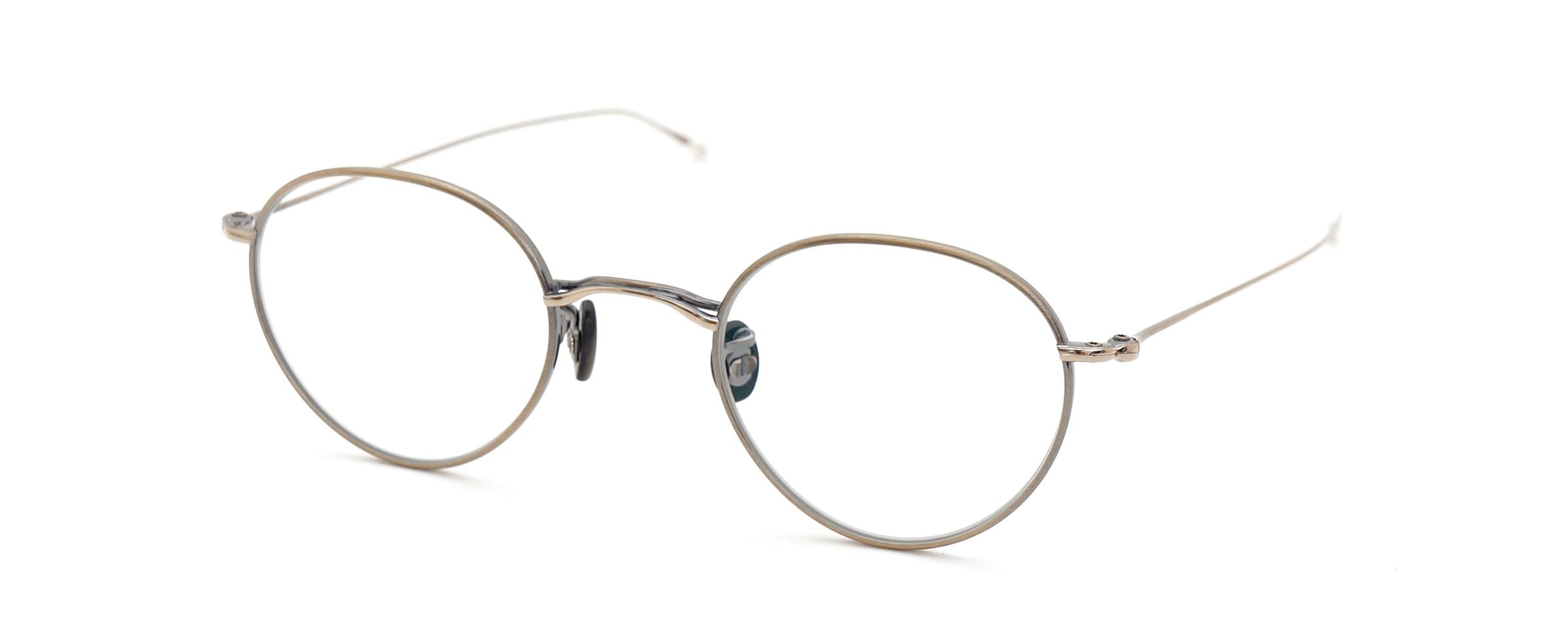 10 eyevan NO.3 45size 4S-CL OldGold全体像