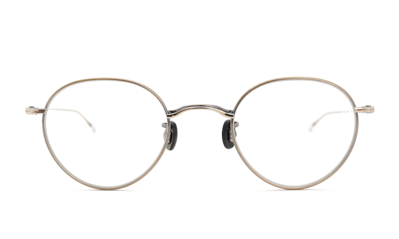 10 eyevan NO.3 45size 4S-CL OldGold  正面詳細