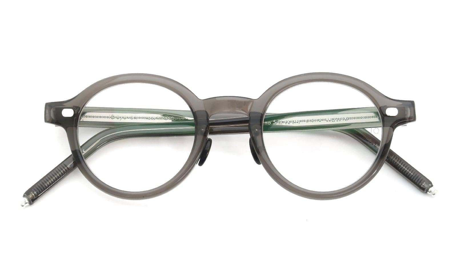 10 eyevan NO.5 Ⅲ FR 44size c.1011S Grey 折り畳み詳細