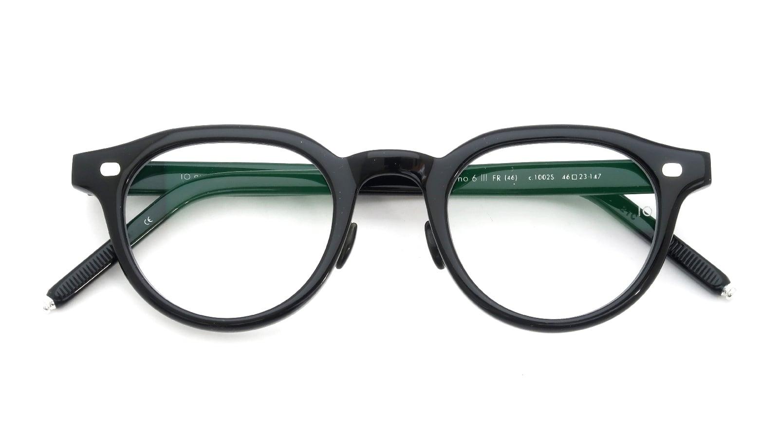 10 eyevan NO.6 Ⅲ FR 46size c.1002S Black 折り畳み詳細