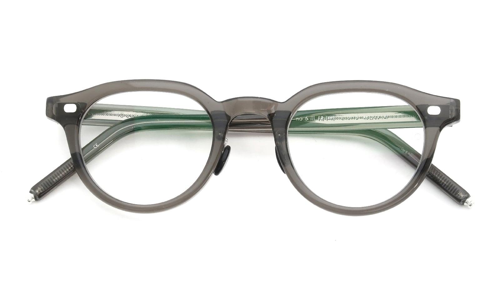 10 eyevan NO.6 Ⅲ FR 46size c.1011S Grey 折り畳み詳細