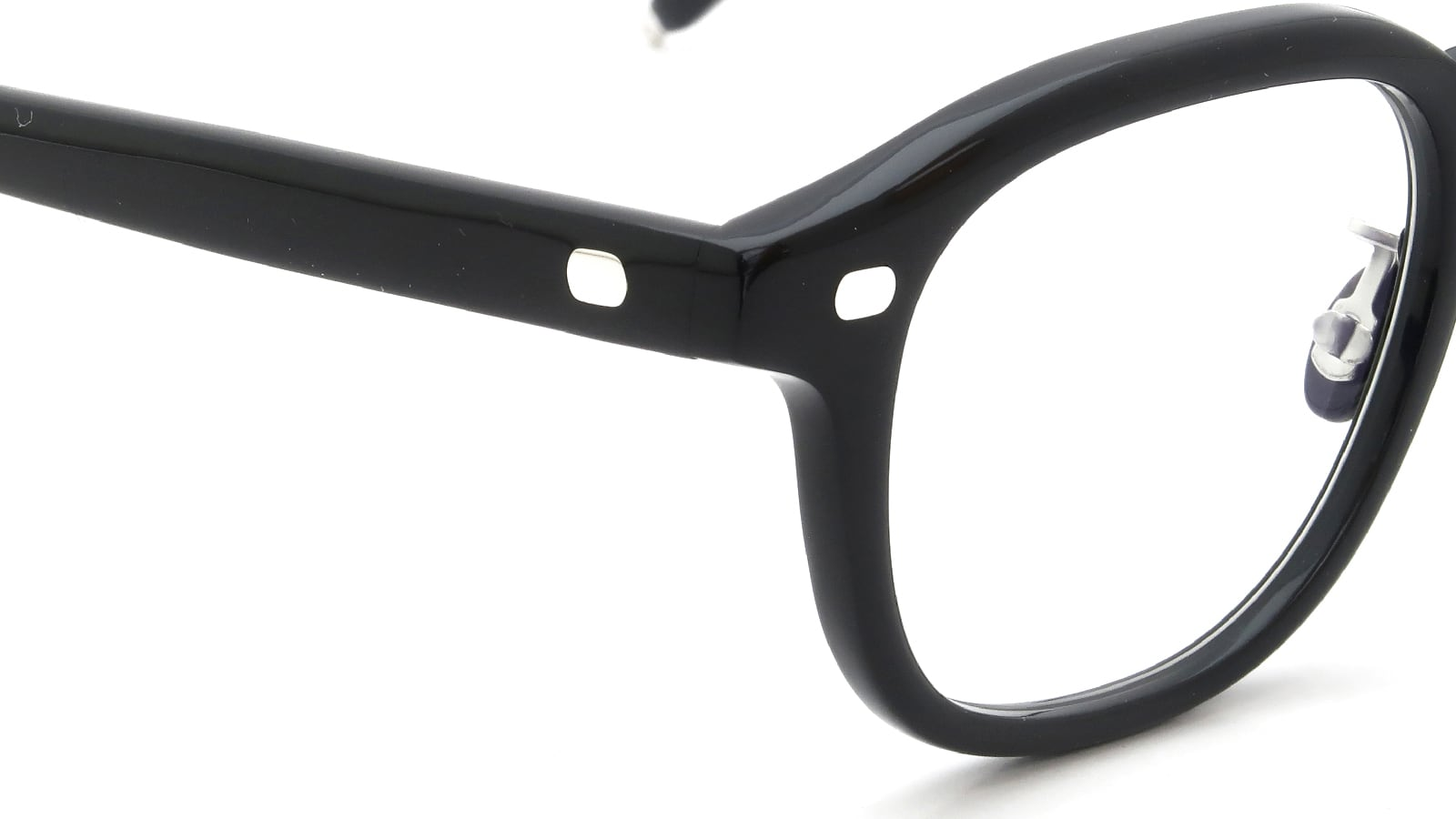 10 eyevan NO.7 Ⅲ FR 47size c.1002S Black ヒンジの詳細
