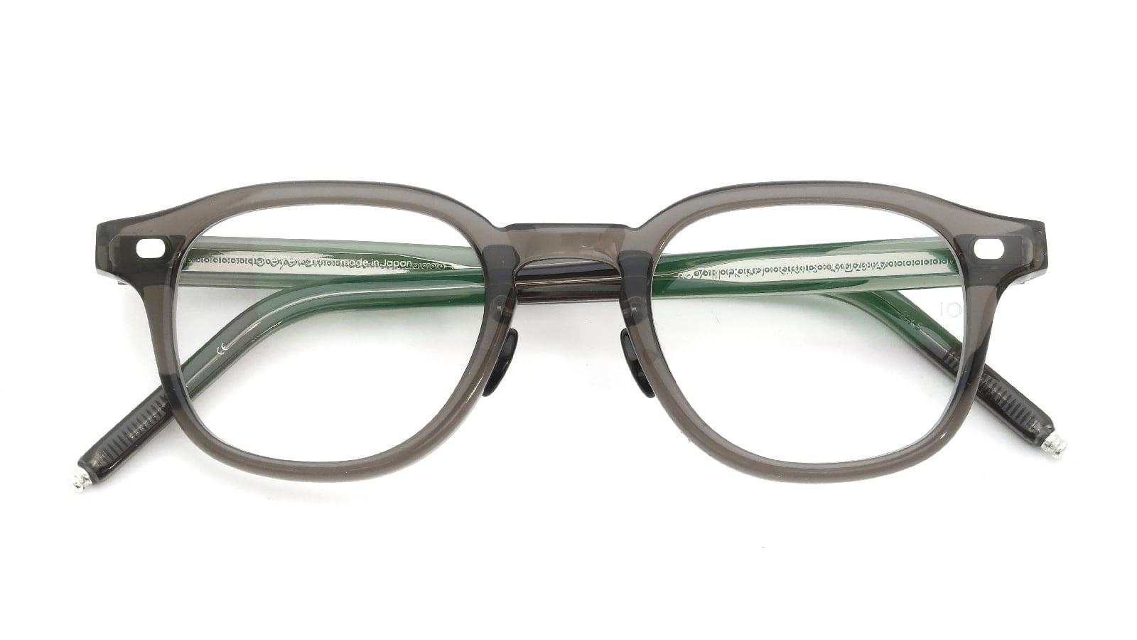 10 eyevan NO.7 Ⅲ FR 47size c.1011S Grey 折り畳み詳細