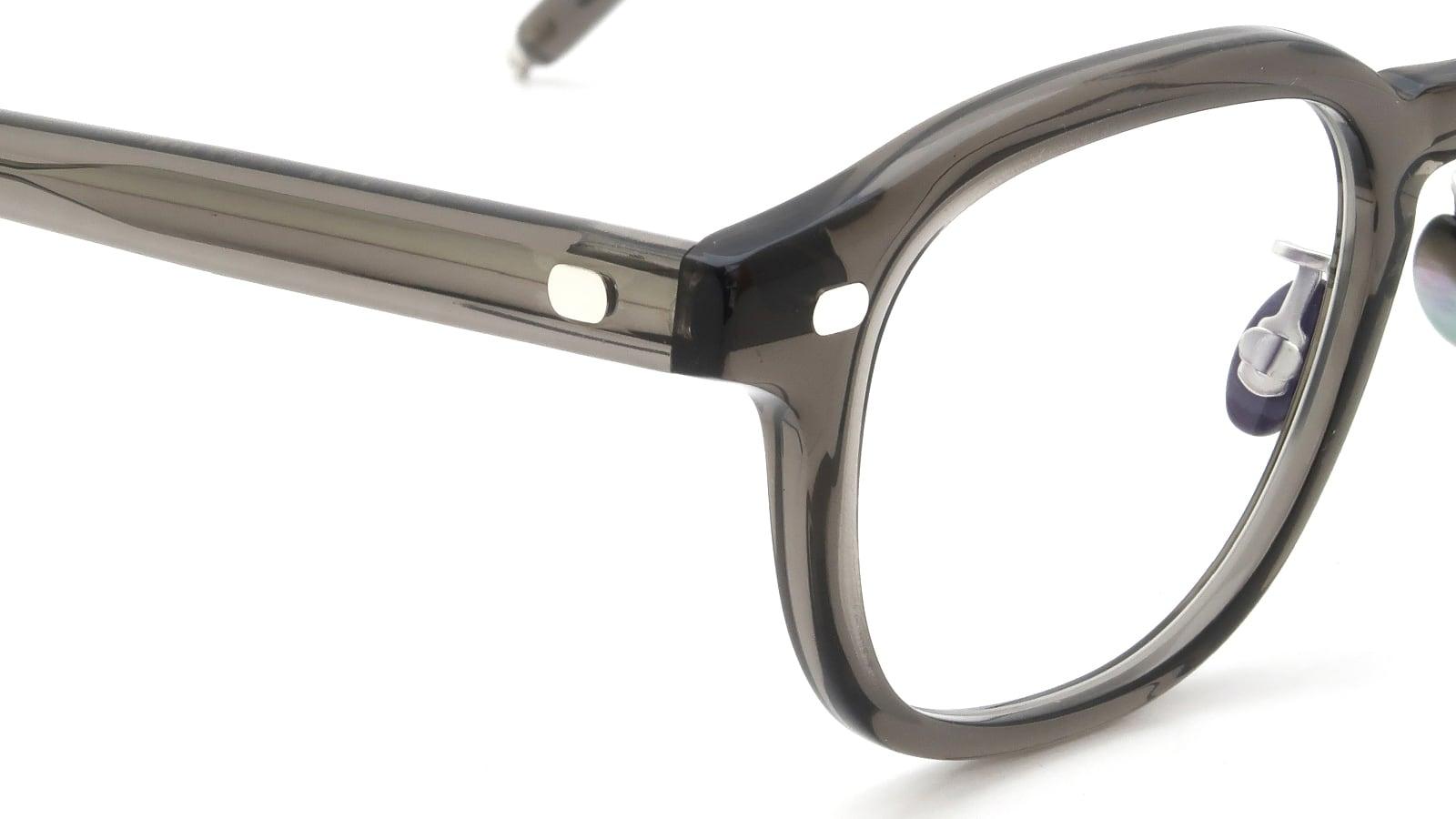 10 eyevan NO.7 Ⅲ FR 47size c.1011S Grey ヒンジの詳細
