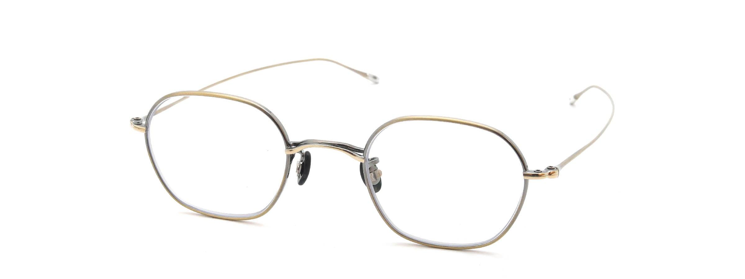10 eyevan NO.2 4S-CL OldGold全体像