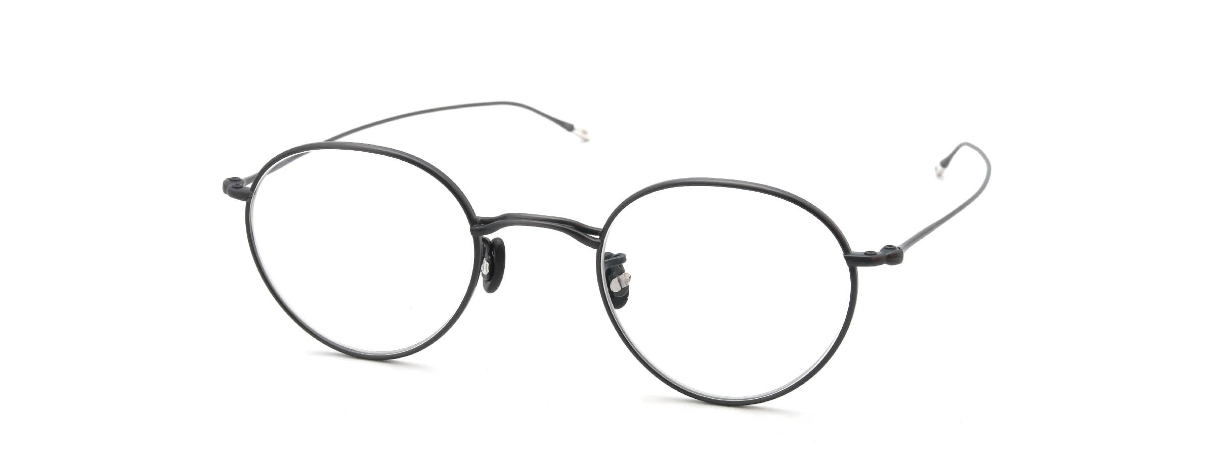 10 eyevan NO.3 45size 8S-CL MatCharcoal全体像
