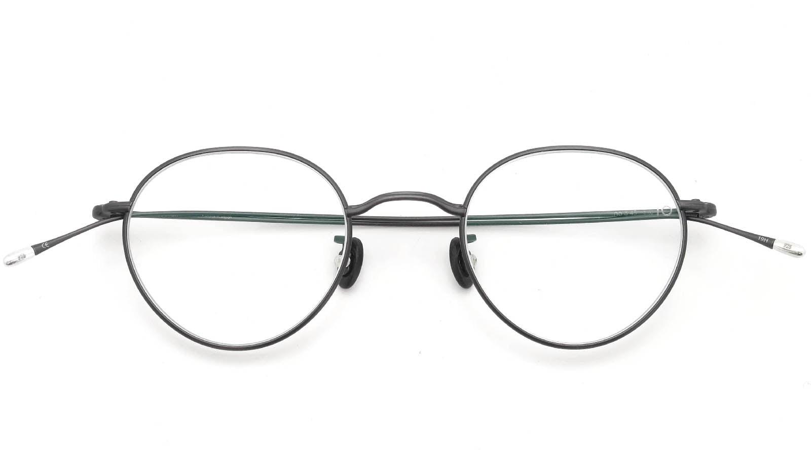 10 eyevan NO.3 45size 8S-CL MatCharcoal 折り畳み詳細