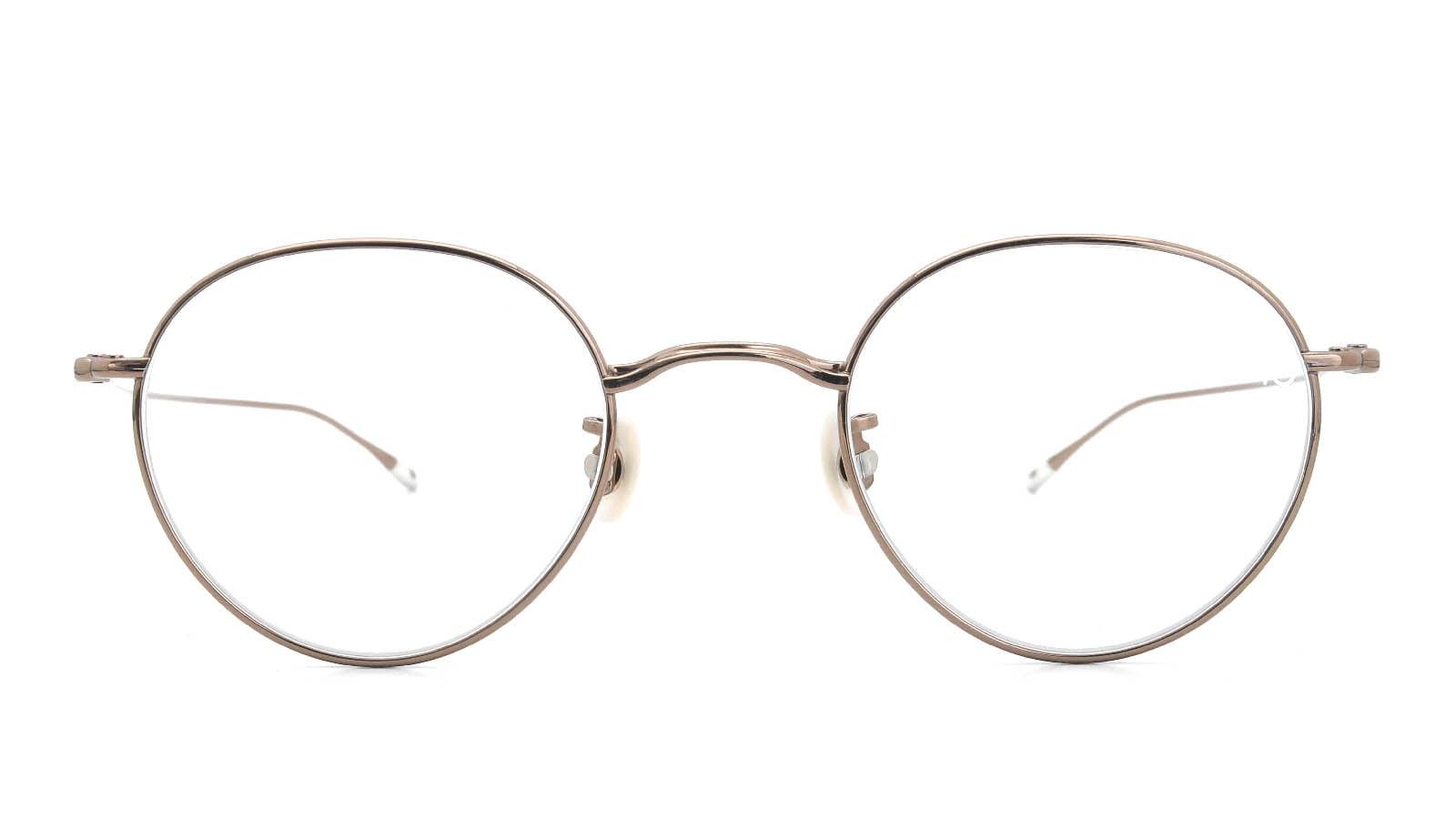 10 eyevan NO.3 47size 9S-CL BrownGold  正面詳細