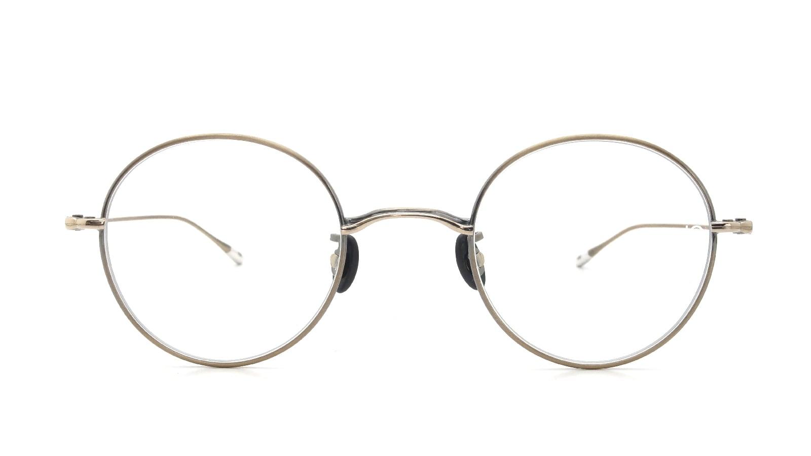 10 eyevan NO.5 44 4S-CL OldGold  正面詳細