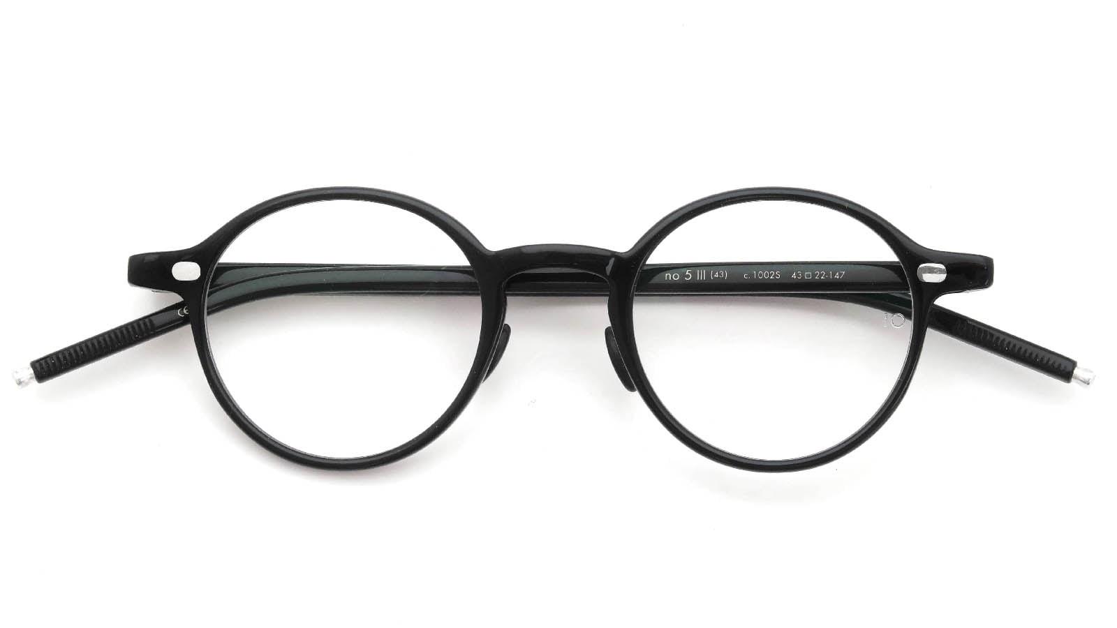 10 eyevan NO.5 Ⅲ 43size  c.1002S Black 折り畳み詳細