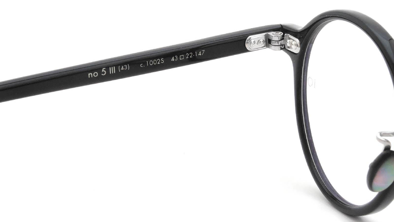10 eyevan NO.5 Ⅲ 43size  c.1002S Black 9