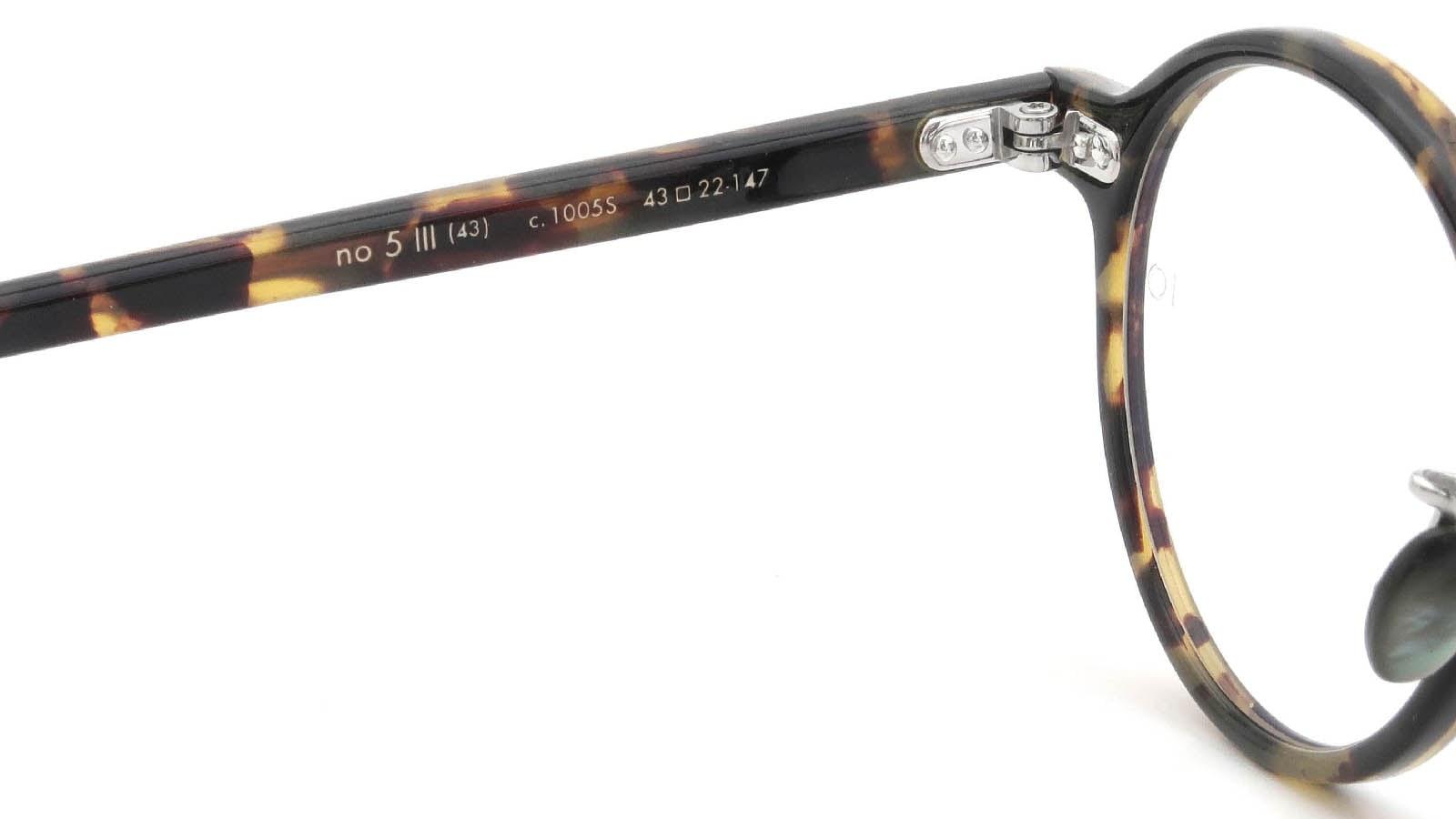 10 eyevan NO.5 Ⅲ 43size  c.1005S Havana 9