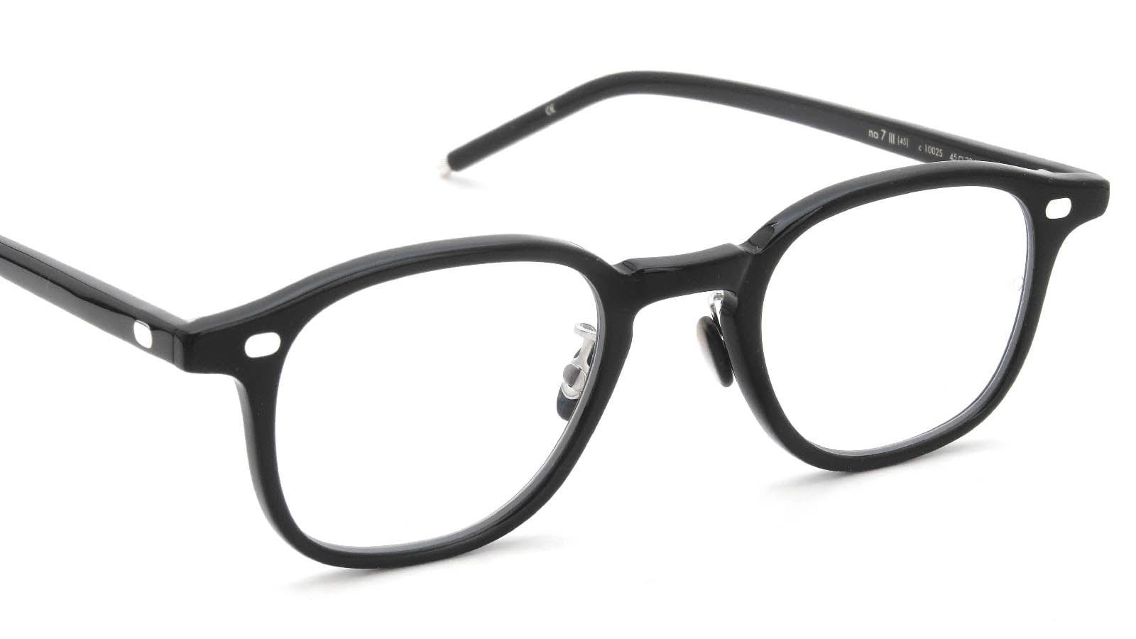 10 eyevan NO.7 Ⅲ 45size  c.1002S Black 6
