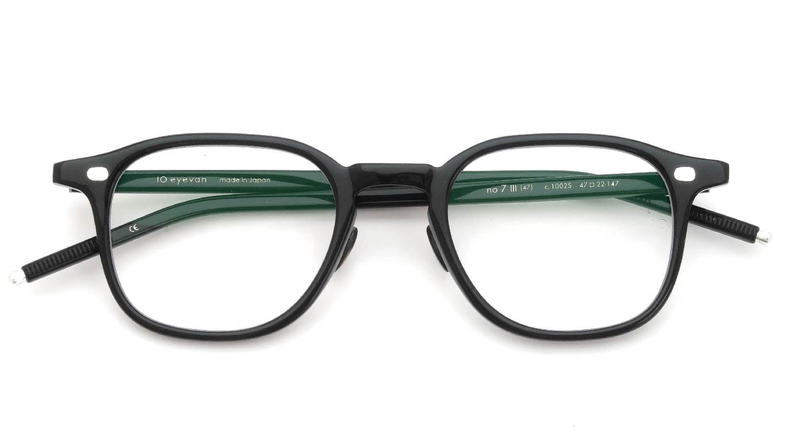 10 eyevan NO.7 Ⅲ 47size  c.1002S Black 4