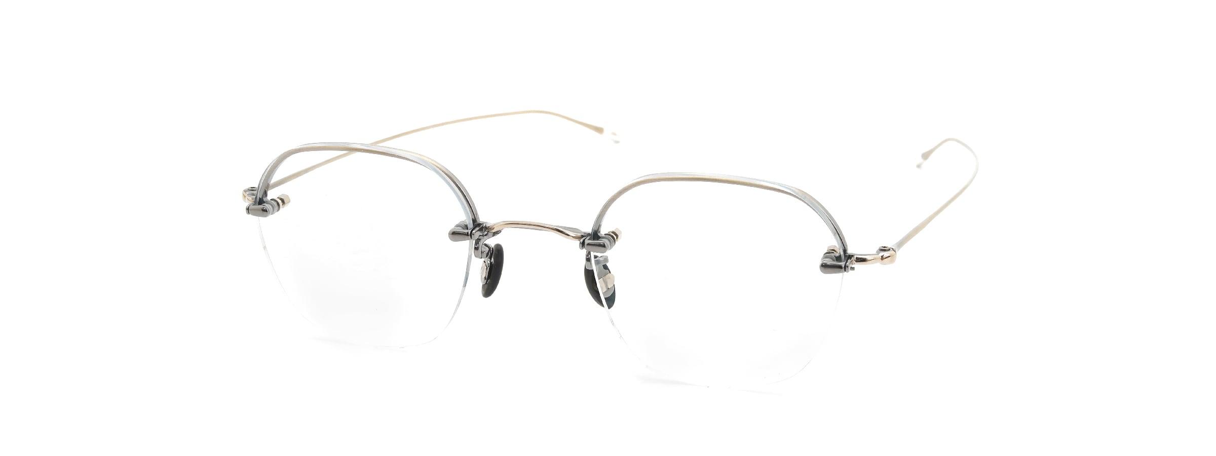10 eyevan NO.2 Ⅱ 4S-CL OldGold全体像