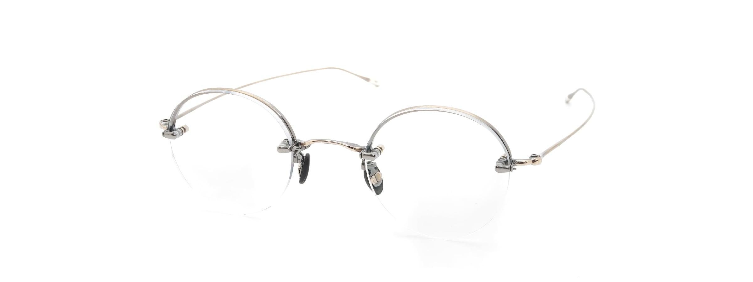 10 eyevan NO.5 Ⅱ 43 4S-CL OldGold全体像