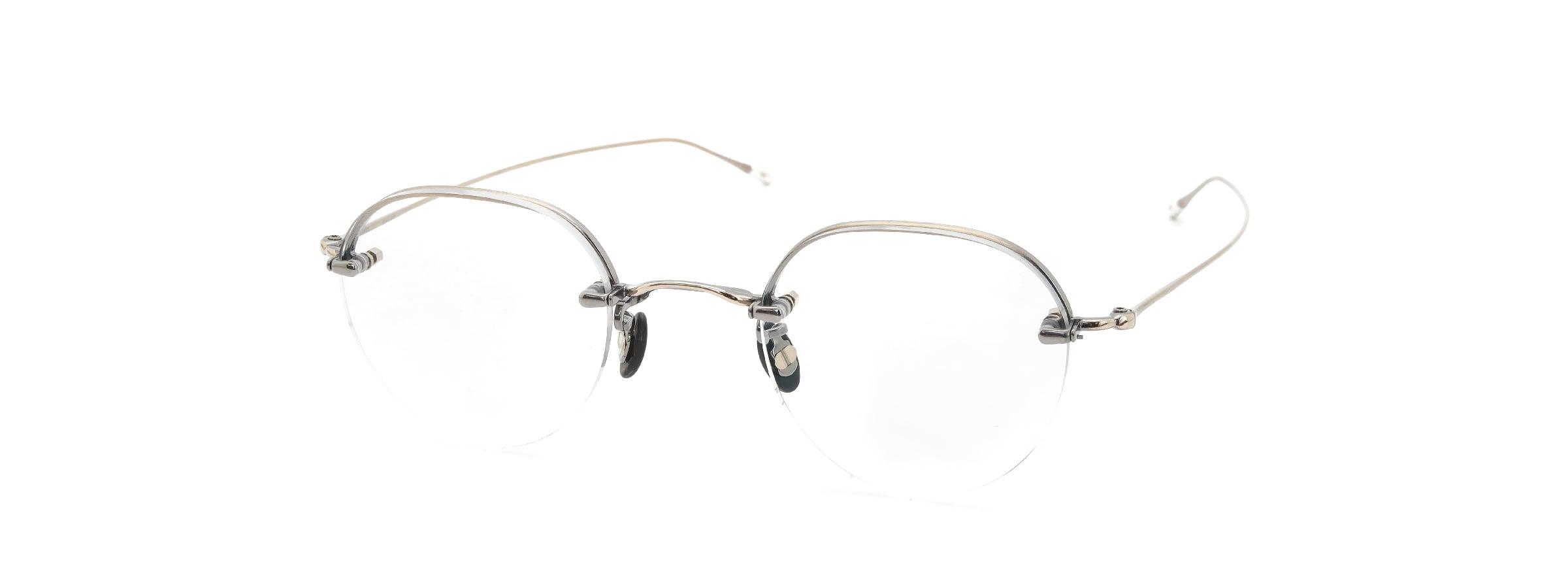 10 eyevan NO.6 Ⅱ 44 4S-CL OldGold全体像