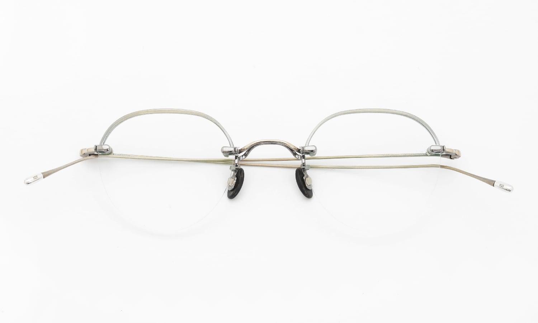 10 eyevan NO.6 Ⅱ 44 4S-CL OldGold 折り畳み詳細