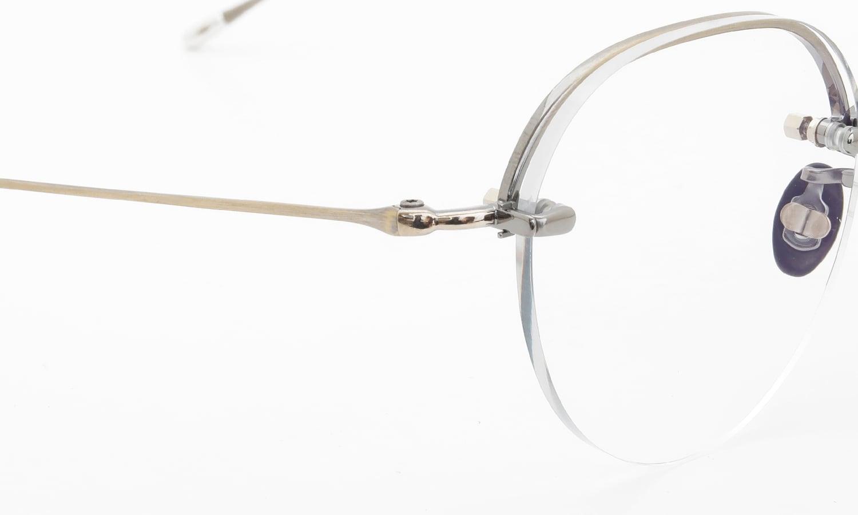 10 eyevan NO.6 Ⅱ 44 4S-CL OldGold ヒンジの詳細