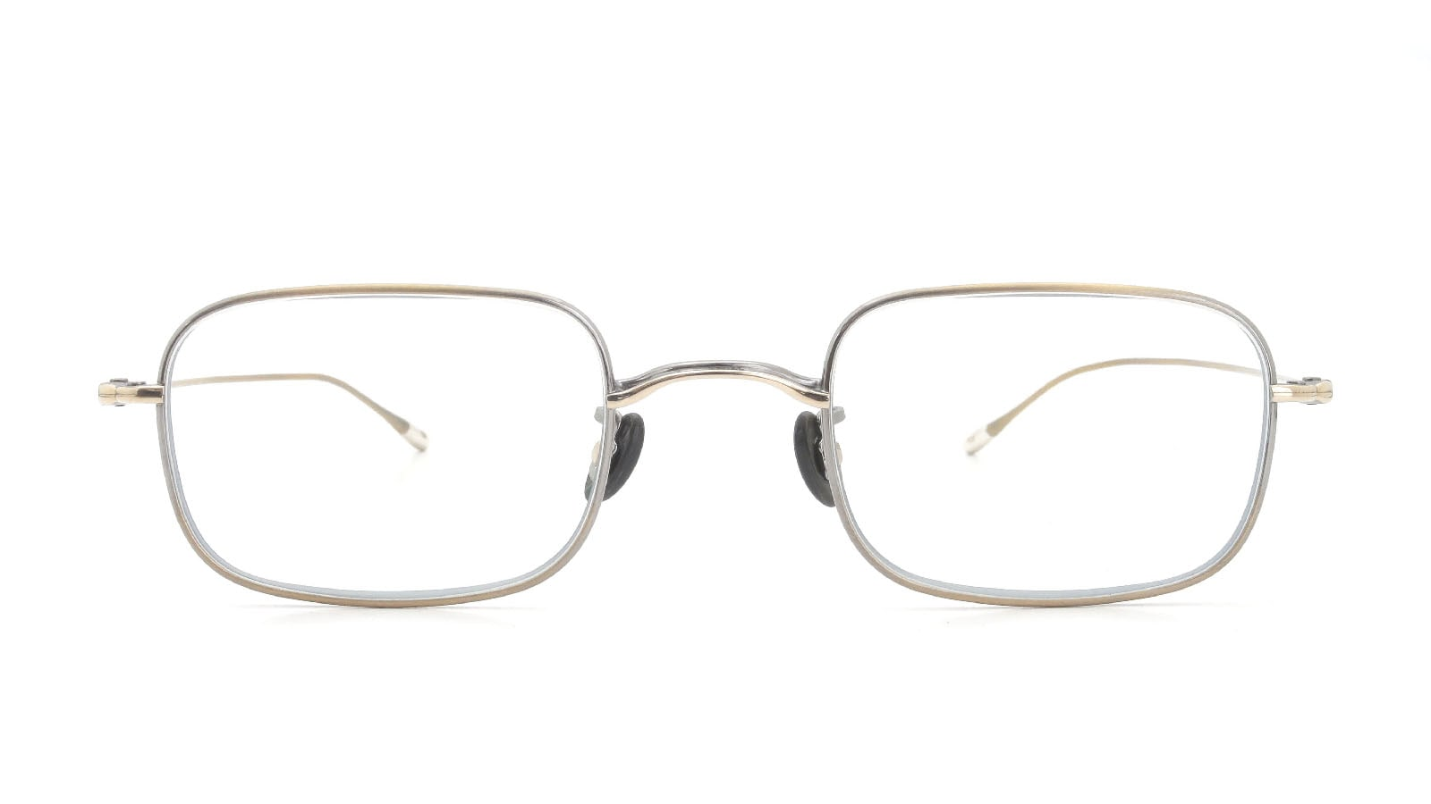 10 eyevan NO.8 47size 4S-CL Antique Gold  正面詳細