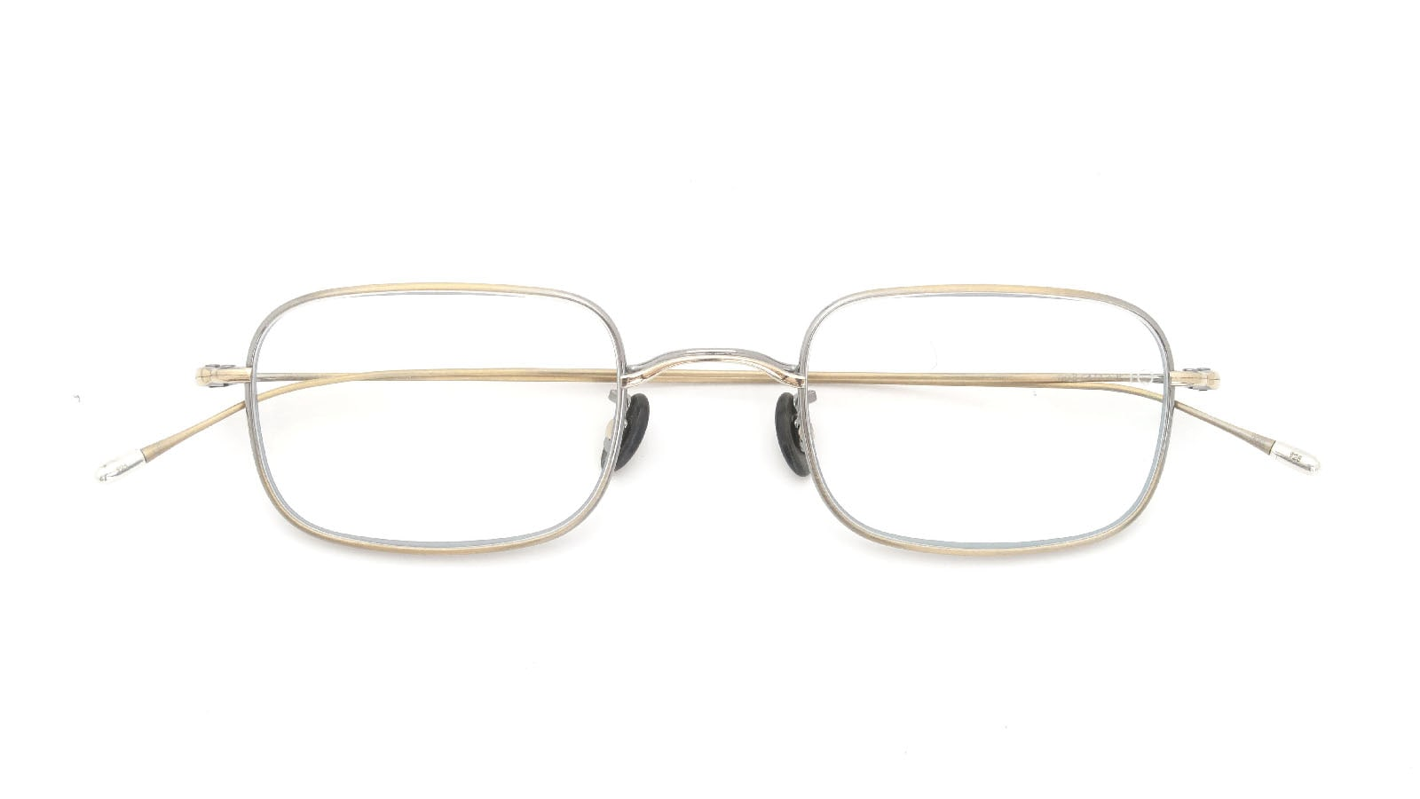 10 eyevan NO.8 47size 4S-CL Antique Gold 折り畳み詳細