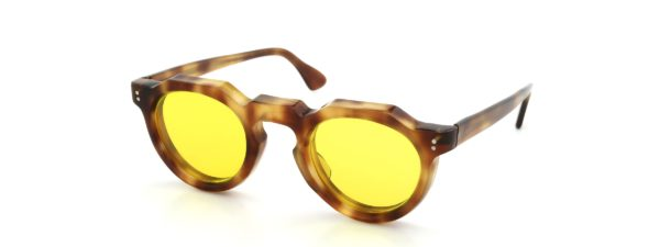 Lesca レスカ vintage Crown-Panto Light-Havana 8mm (v5) Yellows-lens