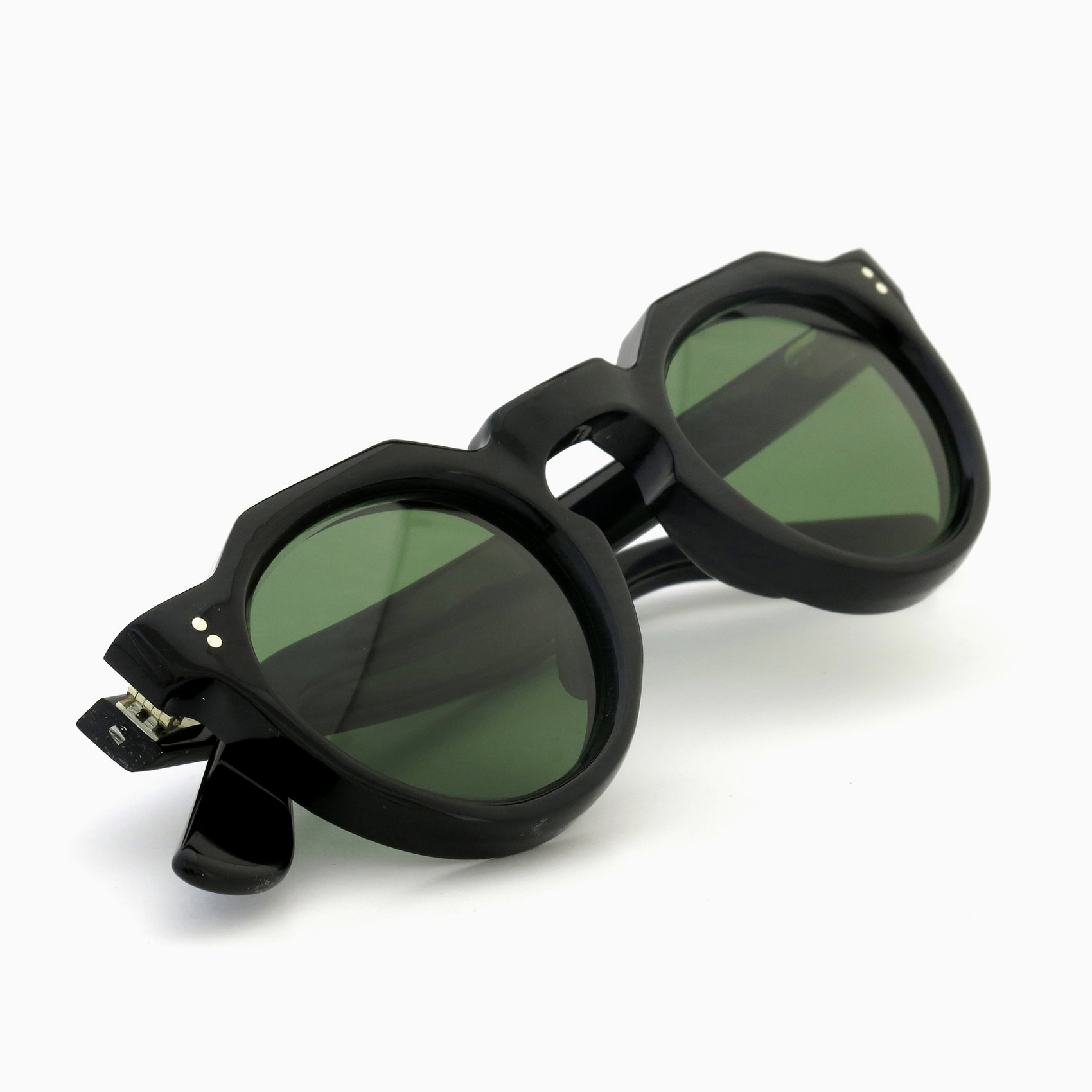170530_Lesca-vintage_crowne-panto-type-a_Black_8mm_v14_Green-lense_2pin