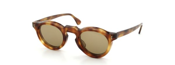 Lesca レスカ Vintage Panto Light-Havana 8mm (v3) Light-Brown-lens