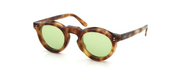 Lesca レスカ Vintage Panto Light-Havana 8mm (v4) Light-Green-lens