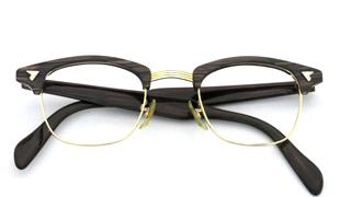 American Optical アメリカンオプチカル ウイング鋲 マルコムX 22-AO-1/10-12KGF ブラウンササ/ゴールド]