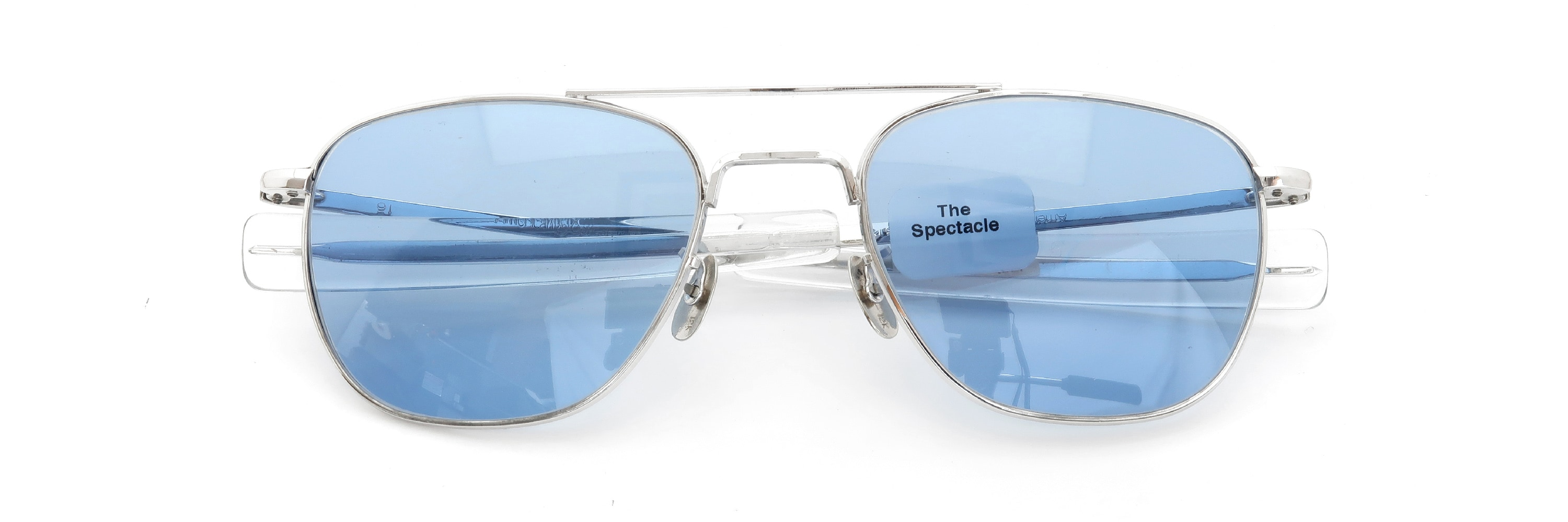 The Spectacle メガネ 1950s-1960s American Optical Mid-Century-Modern-Pilot Truman WG 1-10 12KGF Solid-12K-Gold-Nose-Pads イメージ