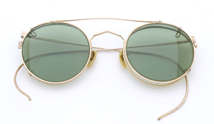 American optical Vintage [1930's Mershwood Gold Round with Clipon]