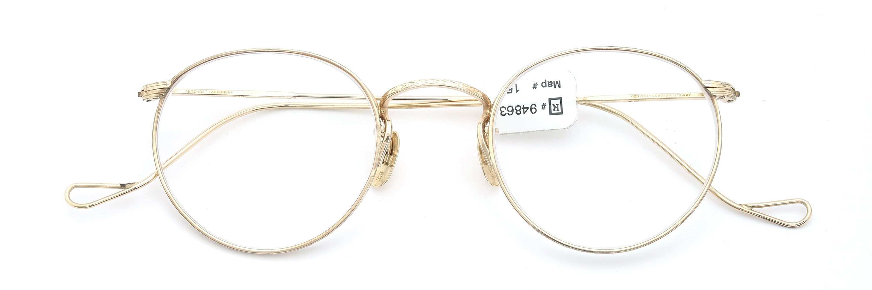 The Spectacle メガネ 1937 Artcraft Optical The-Artbit NOKOROD P-6 G 12kPads 46-22