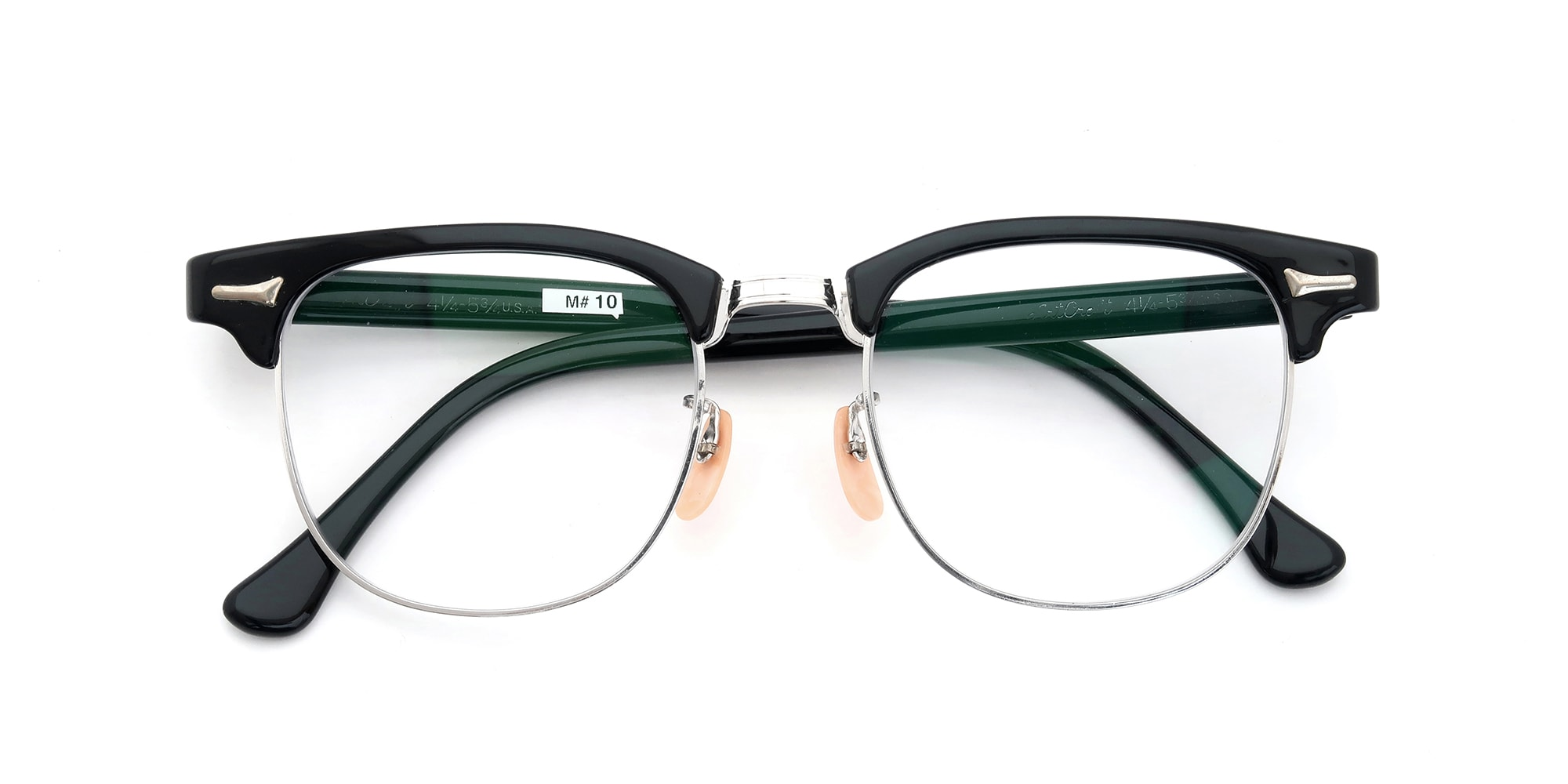 The Spectacle メガネ 1950s-60s Artcraft Optical Combination Black/WG 48-20 イメージ5