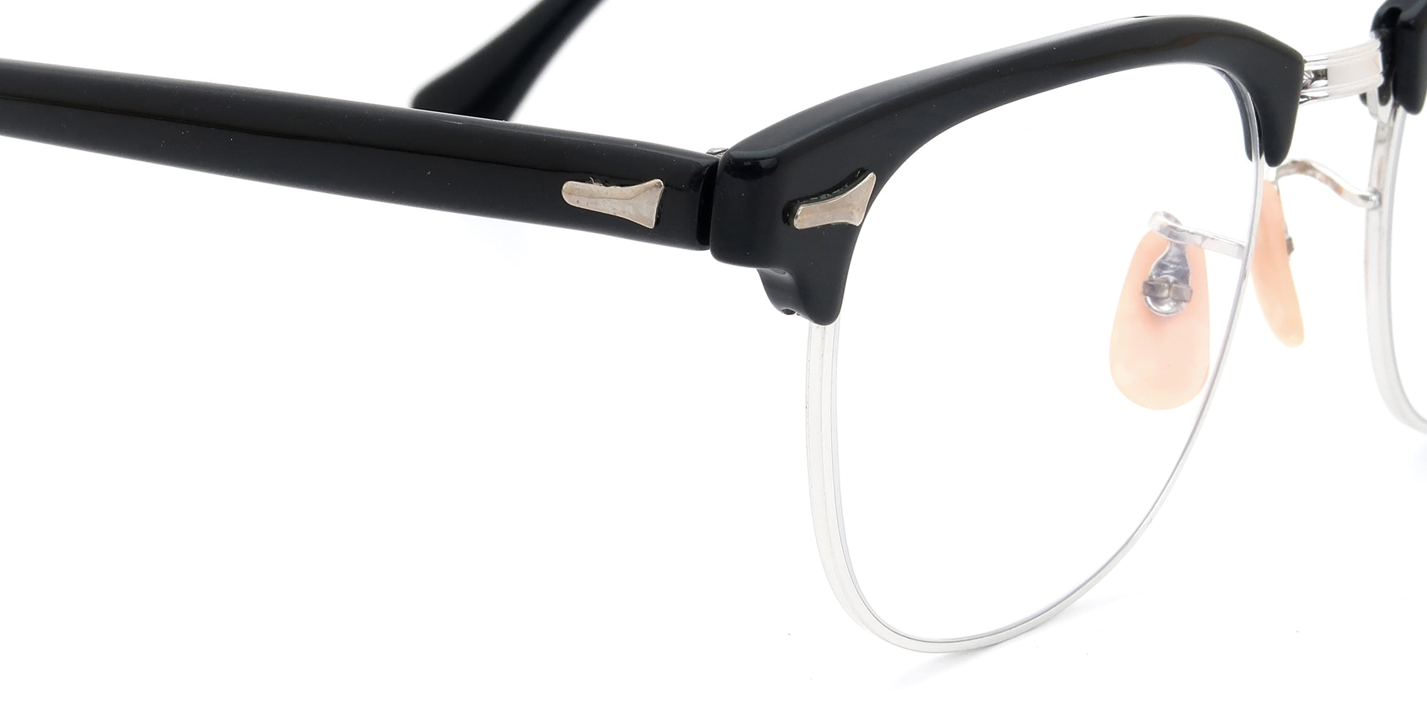 The Spectacle メガネ 1950s-60s Artcraft Optical Combination Black/WG 48-20 イメージ6