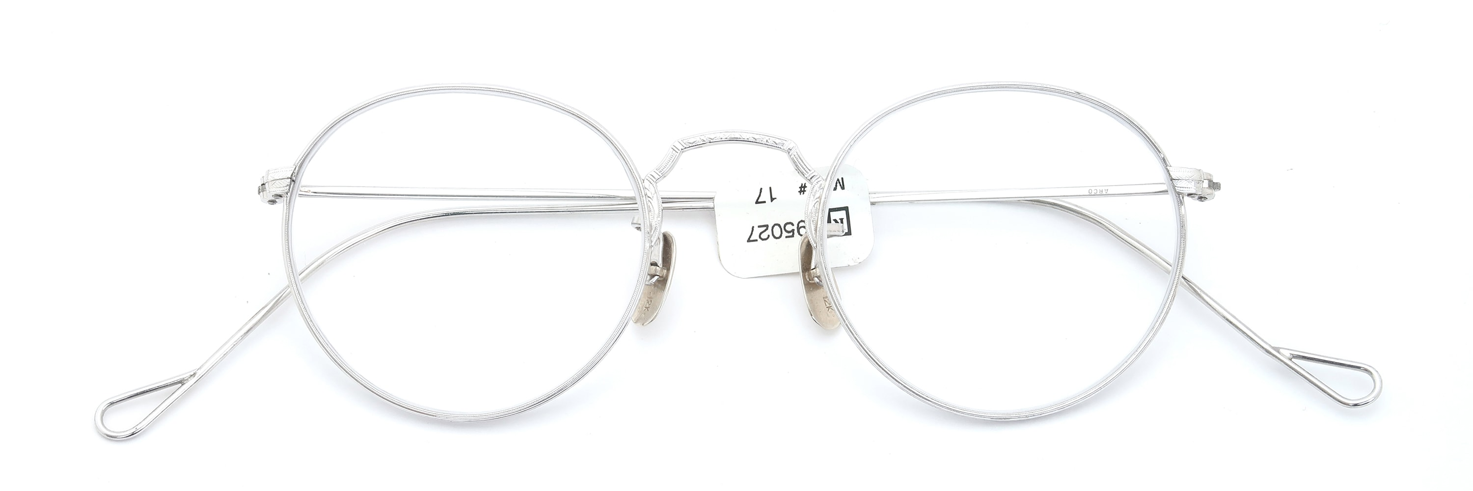 The Spectacle メガネ 1930s-40s Bausch&Lomb Full-Frame Ful-Vue ARCO WG with Solid-12K-Gold-Nose-Pads イメージ