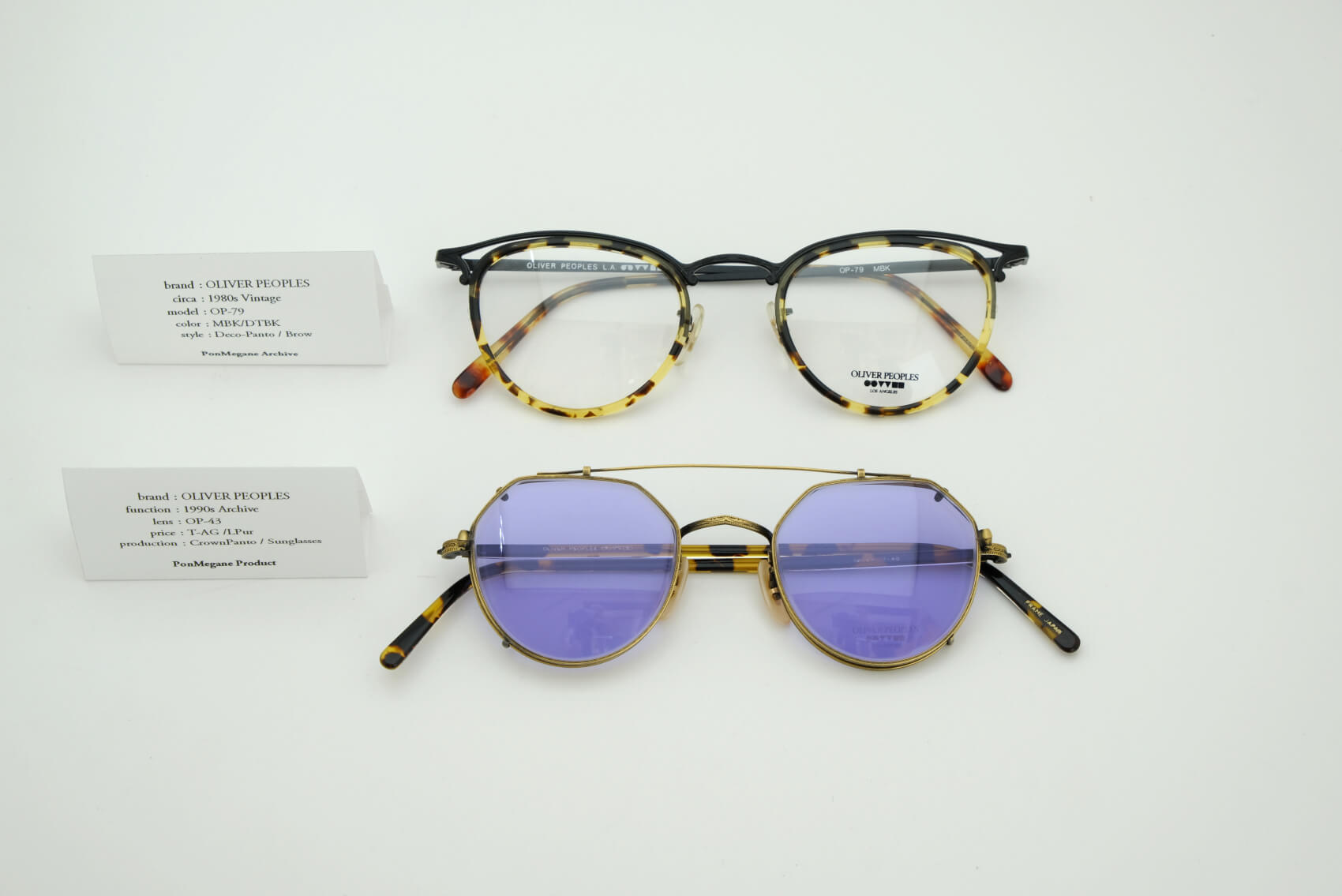 OLIVER PEOPLES‐1980's‐1990's